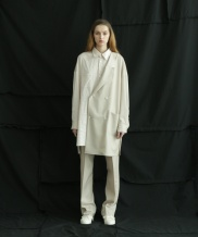 [ulkin] UL:KIN COLLECTION LABEL_SIDE JACKET SHIRT