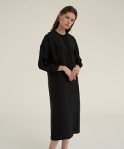 [NOTA] SHIRRING NECK COMFORT DRESS