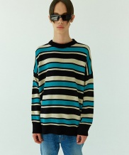 [WOOZO] basic stripe overfit knit