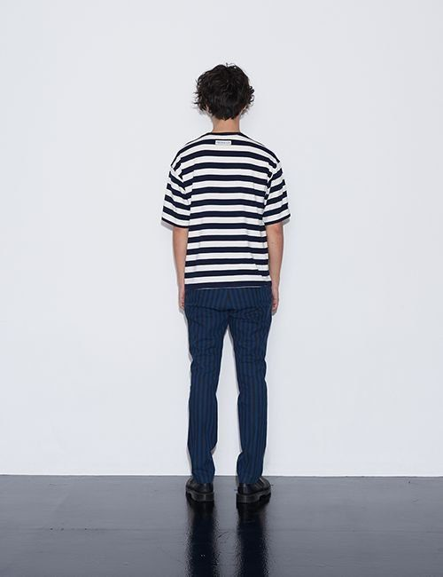 [FREIKNOCK] Stripe Cotton Pants