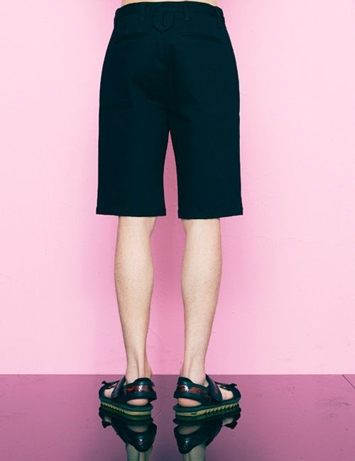 [FREIKNOCK] DENIM POCKET SHORT PANTS