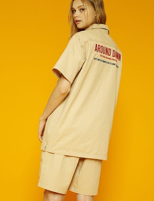 [SLOWACID] [UNISEX] AROUNDDAWN HALF-PANTS