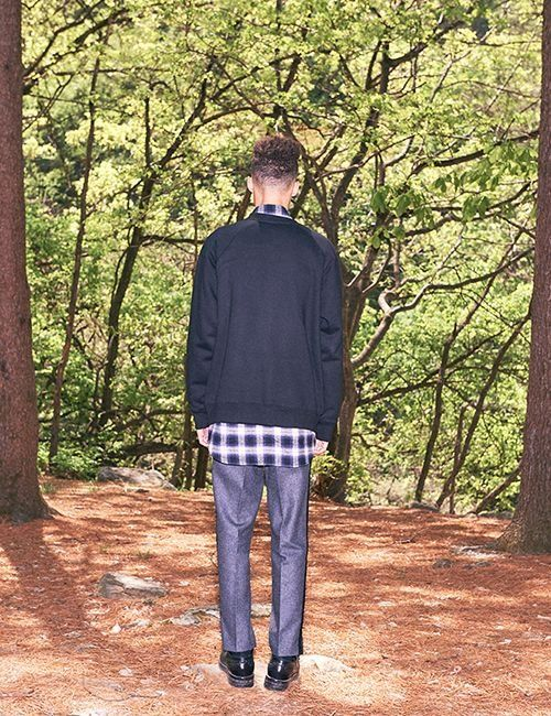 [FREIKNOCK] SIDE LINE WOOL PANTS