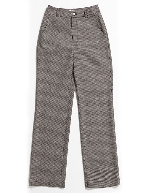 [margarin fingers] check wide pants