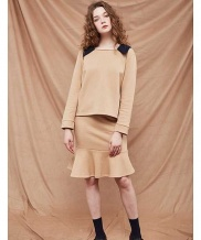[A BY A] Square neck collar sweat shirt