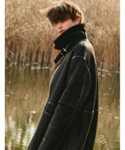 [SPERONE] LAMB SKIN LONG COAT