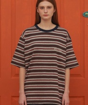 [UNALLOYED] WE'RE STRIPE T SHIRT