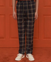 [UNALLOYED] 18SS CHECK BANDING PANTS