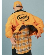 [A PIECE OF CAKE] Oval Logo Blouson