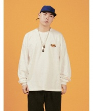 [A PIECE OF CAKE] Oval Logo Longsleeved T-shirts