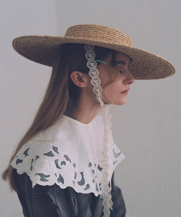 [AWESOME NEEDS] RAFFIA STRAW BOATER HAT