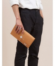 [WILD BRICKS] PAPER LEATHER CLUTCH BAG