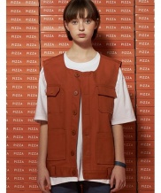 [UNALLOYED] POCKET COTTON VEST