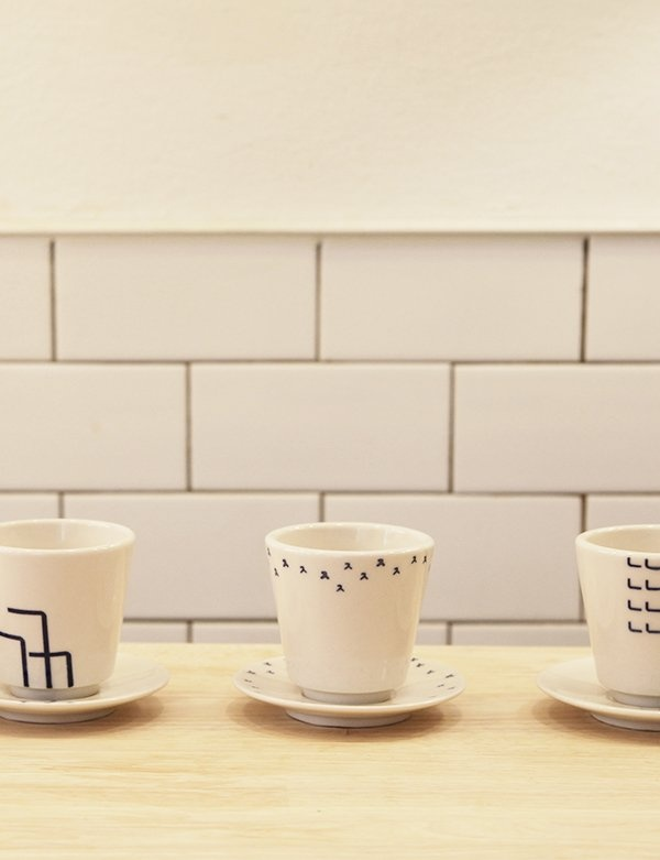 [SOROSI] Hangeul pattern teacup set(jieut)