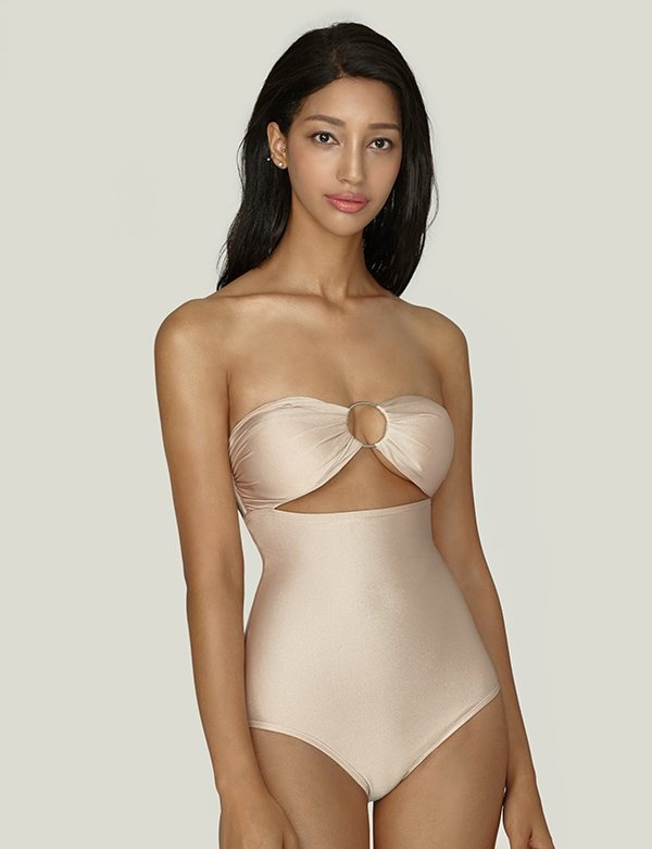 [AGNEL] Cut-out Pearl Monokini