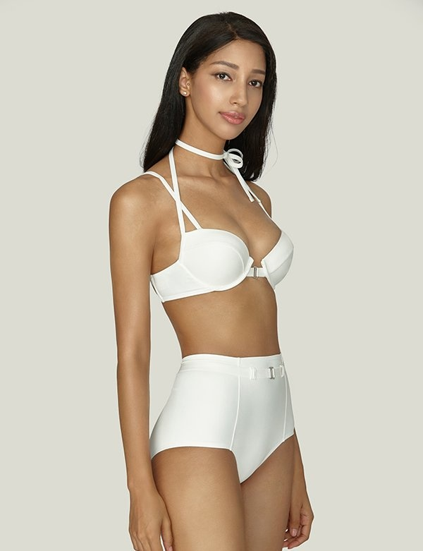 [AGNEL] Buckle High-waisted Brief