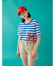 [MSKN2ND] M PATCH STRIPED SS T-SHIRT