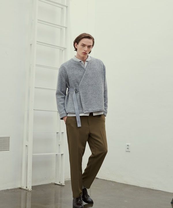[TRIP LE SENS] HIGH BELT TAPERED SLACKS