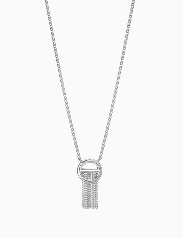 [090FACTORY] [Silver] Buckle Necklace(Silver,Gold)
