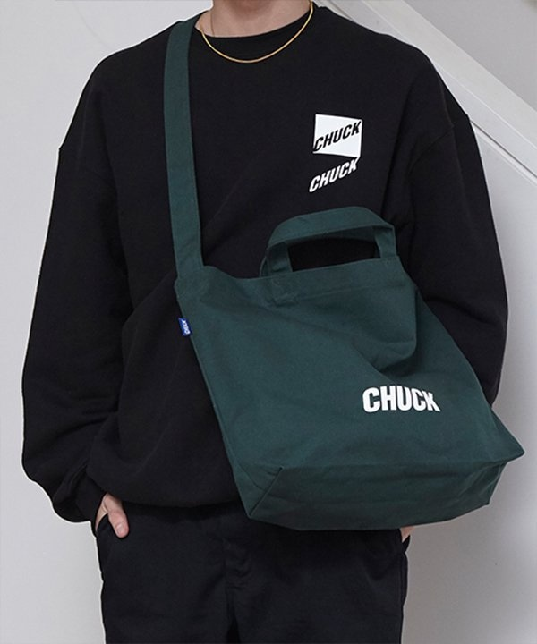 [CHUCK] CHUCK LOGO CANVAS 2WAY BAG