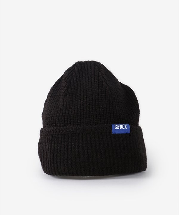 [CHUCK] CHUCK LOGO POINT LABEL BEANIE