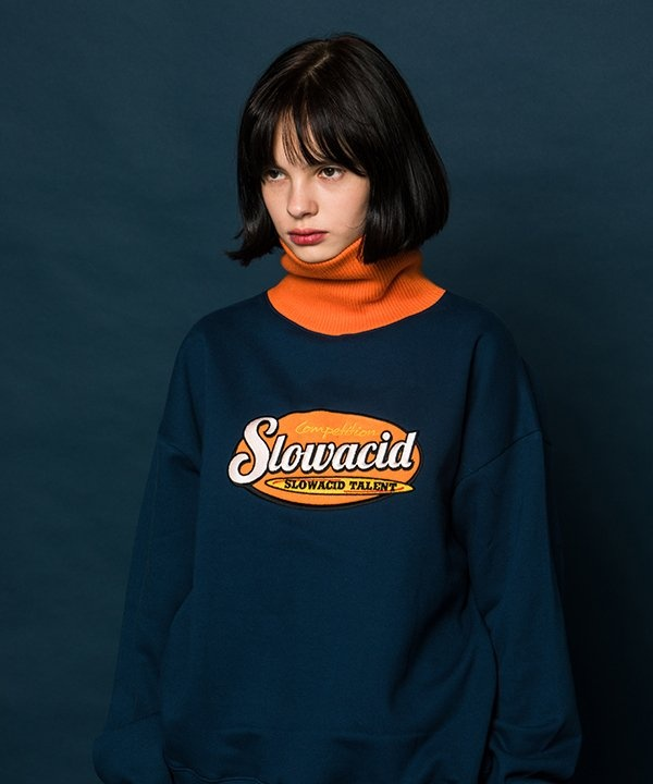 [SLOWACID] ORANGE Turtleneck Sweatshirt