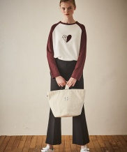 [Maison de Ines] LOVER'S STREET POINT ROUND CANVAS BAG
