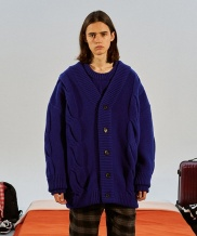 [TRUNK PROJECT] Cable Wool Knit Cardigan Jacket