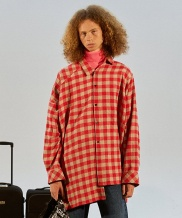 [TRUNK PROJECT] Unbalanced sleeve check shirts