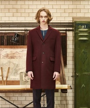[by Standard] Wool Raw-Cut Coat