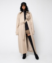 [ZISZAS] Cross Belted Car Long Coat