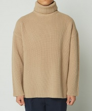 [whatever we want] OVERSIZE TURTLENECK SWEATER