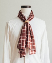 [WILD BRICKS] WD CHECK SCARF