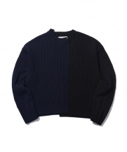[ORDINARY PEOPLE] color-texure mixed sweater