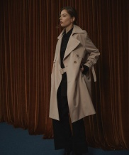 [COQUET STUDIO] UNISEX DRAPE TRENCH COAT