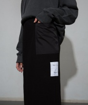 [MOL BY MORE OR LESS] COMBO POCKET COTTON SKIRT