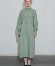 [MOL BY MORE OR LESS] PINTUCK VOLUME LONG DRESS