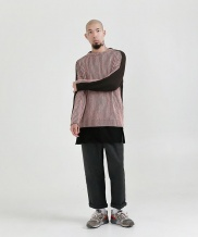 [STONYSTRIDE] TWO TONE COLOR KNIT SWEATER