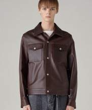 [SPERONE] Fur Collar Lambskin Leather Jacket