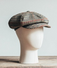 [WILD BRICKS] OB HOUND TOOTH NEWSBOY CAP