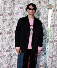 [youthbath] wool tape string jacket