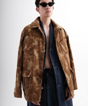 [youthbath] Over-fit spot corduroy coat
