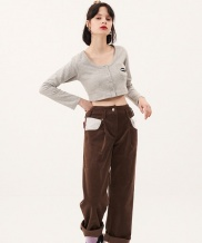 [ODDONEOUT] CROP POCKET CARDIGAN