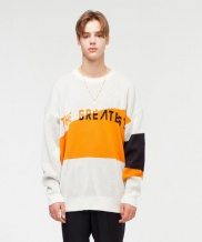 [THE GREATEST] GT18FW04 OVERSIZE LOGO KNIT