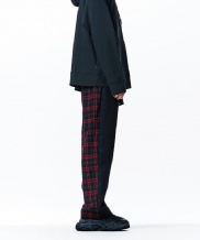 [overtheone] 050 HLAF CHECK PATTERN BANDING PANTS
