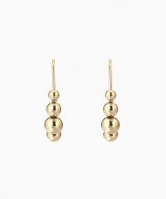 [090FACTORY] [Silver] Repeated sphere Earring (Silver, Gold)