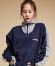 [motivestreet] MASK HALF ZIPUP SWEAT SHIRT