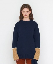[AGENDER] A BLOCK SLEEVE PULLOVER