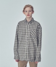 [TRIP LE SENS] OVER FIT STAN CHECK SHIRTS