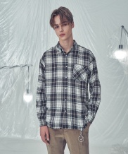[TRIP LE SENS] OVER FIT VIEN CHECK SHIRTS